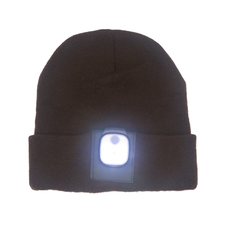 97776d843e8b51 2019 HOT Sale Customized LED Beanie Warm Winter hat Charge by USB