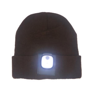 2019 HOT Sale Customized LED Beanie Warm  Winter Hat Charge By USB