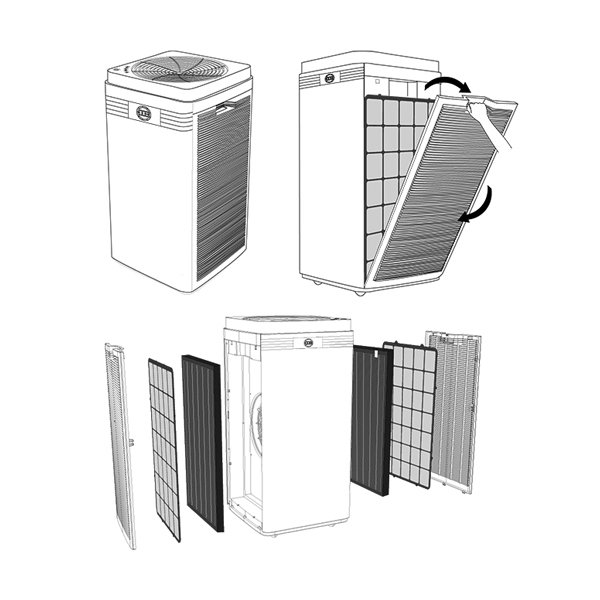 ALONDES-customised-allergen-removal-air-purifier-A6-exporter