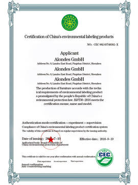 Environmental label certification