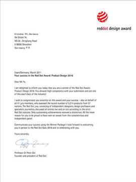 Reddot design certification