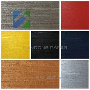 Fancy Paper colourful PVC embossed leather grain paper