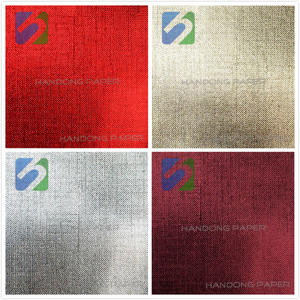texture PVC metallic fancy paper/High quality PVC coated paper