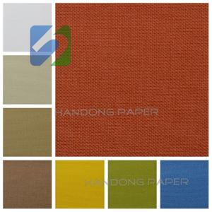 2015 hot cotton packing fabric/ paper backed book binding cloth for wedding cards