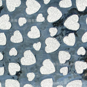 Heart-shaped PP Paper Multicolor Composite Paper/glitter Paper