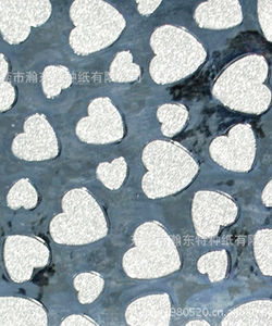 Heart-shaped PP paper multicolor composite paper