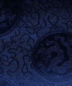 Deep blue bright gold Chinese dragon PVC paper