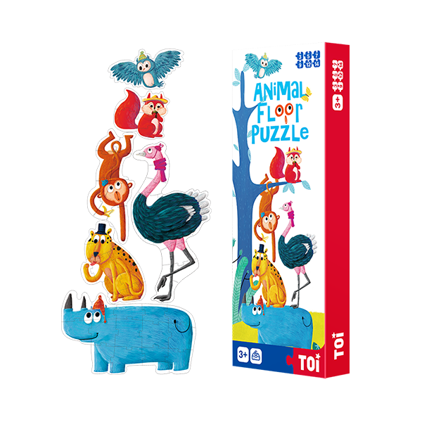 TOI Animal Floor Puzzle Jigsaw Puzzles For Children Aged 3+ (including the height chart)