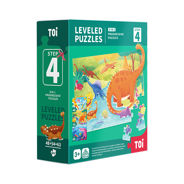 TOI leveled puzzles Paper Jigsaw Puzzle Educational Toy For Kids