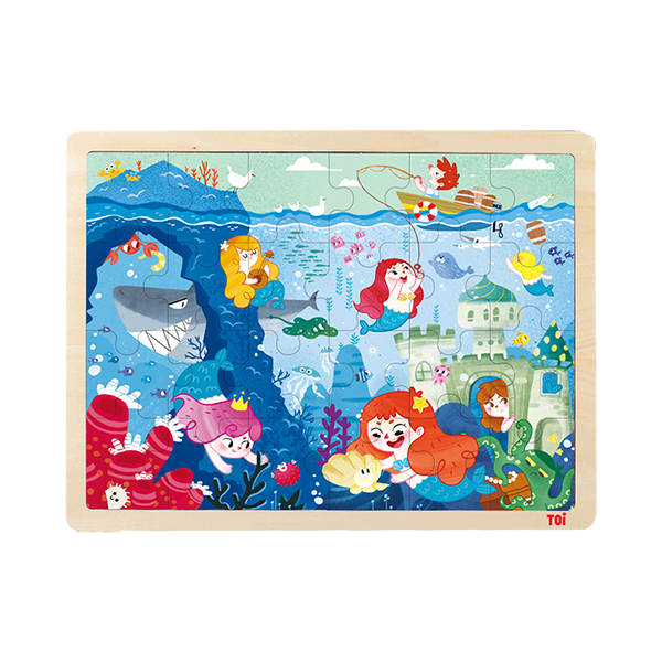 TOI Class Puzzle Mermaid Educational Wooden Children Jigsaw Puzzles Toy For Children Aged 3+