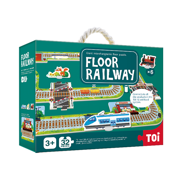 TOI Giant Floor Puzzle Floor Railway Paper Educational Jigsaw Puzzle For Kids