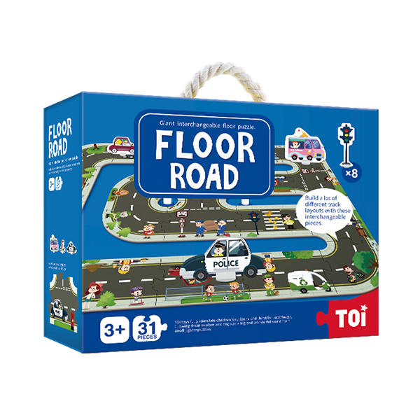 TOI Giant Floor Puzzle Floor Road Paper Educational Jigsaw Puzzle For Kids
