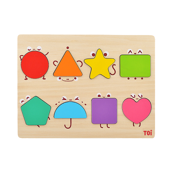 TOI Early Education Puzzle Fairy Shape 8pcs Wooden Puzzle With Storage Tray Educational Toy For 0-3 Years