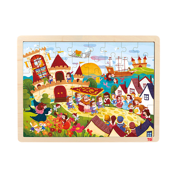 TOI Classic Puzzle Anderson's 48pcs Wooden Jigsaw Puzzle With Storage Tray Educational Toy For Kids