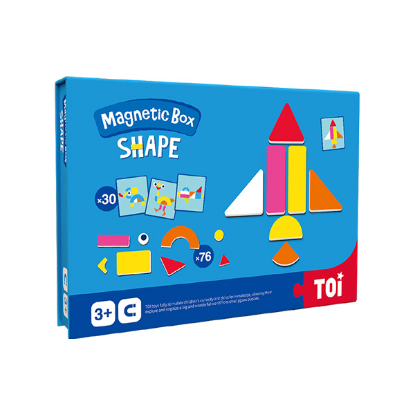 TOI Magnetic Puzzle Book Shape Educational Toy Jigsaw Puzzles For Children Aged 3+