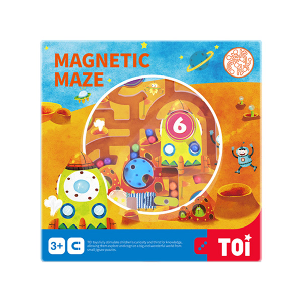 TOI Board Game Magnetic Maze Game Planet Wooden Educational Toy For Kids