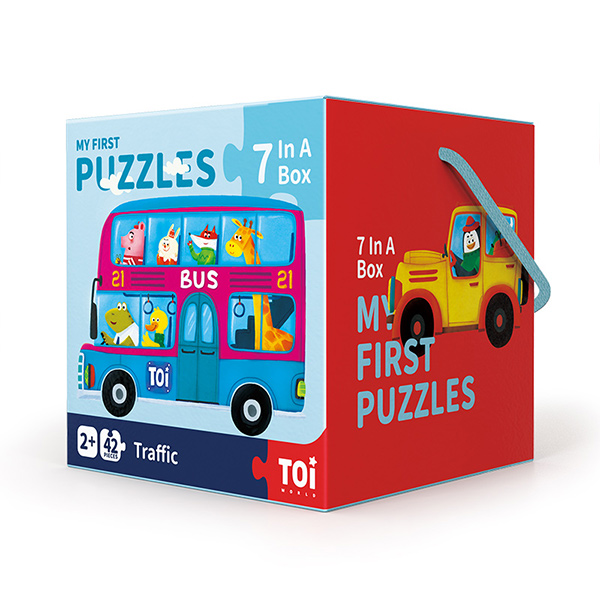 TOI Early Education Series Traffic Educational Toy Paper Jigsaw Puzzles For Kids