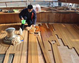 Teak Decking Base Painting