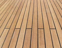 Teak Decking Finished
