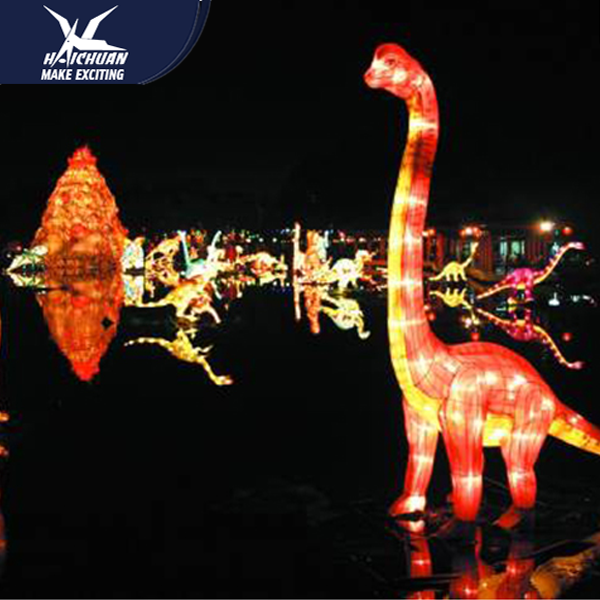 Large Garden Dinosaur Theme Park Lantern Festival Decoration