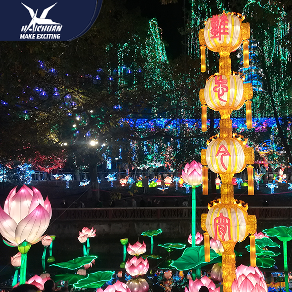 Chinese New Year Outdoor for Festival and Led Stripe Lighting Carnival Show