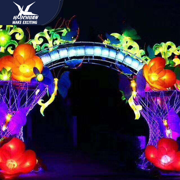 Silk Lantern Light Festival Perfect for Outdoor Decoration