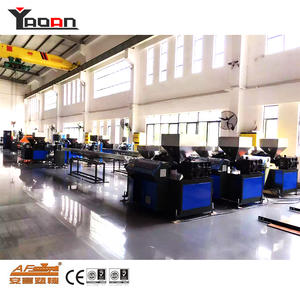 China customized PP PE plastic artificial rattan wicker extrusion machine extruder factory