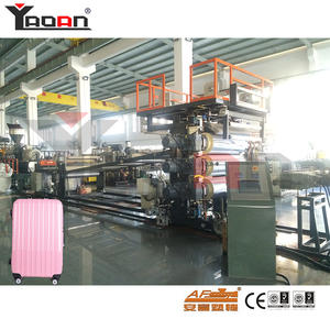 30 years China luggage making machine PC ABS Trolley case hard manufacturers