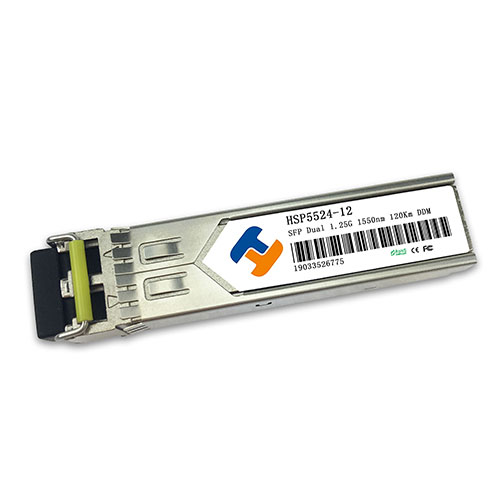 HSP5524-12D 1550nm 1.25Gbps SFP Transceiver 120km Reach