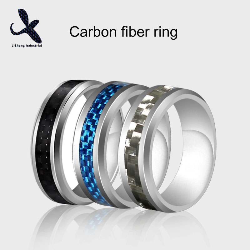 Carbon Fiber Finger Ring 3 Colors