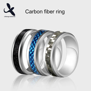 China Customized carbon fiber finger ring Manufacturers