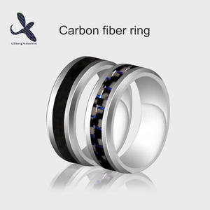 OEM Customized carbon fiber wedding ring Suppliers