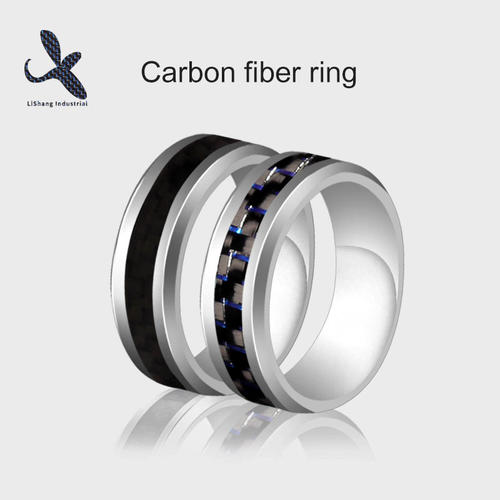 Carbon Fiber Wedding Ring 2 Colors
