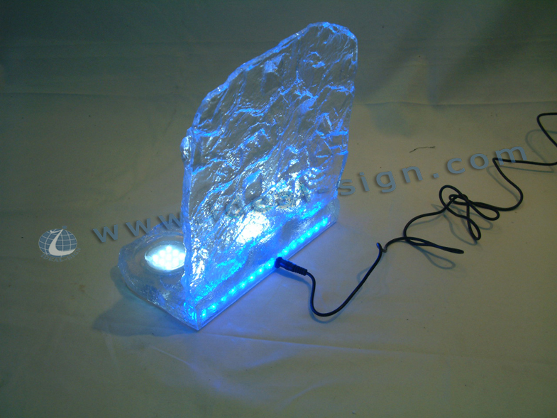 Acrylic LED Ice Cube Bottle Display