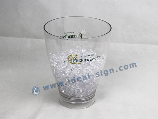 Big Size Transparent Acylic LED Ice Bucket Square Shape