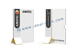 acrylic T shape menu stands