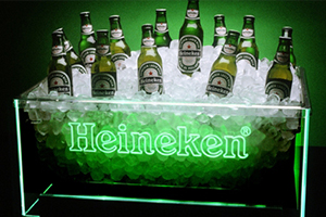 LED ice bucket for beer