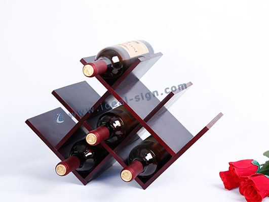W Shape Pine Wooden wine Rack