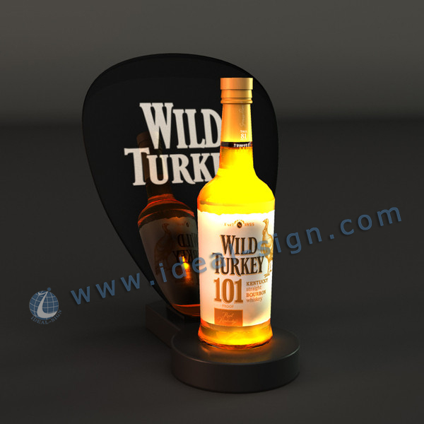 America Style Wild Turkey Brand LED Bottle Glorifier