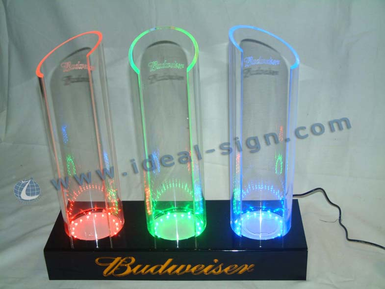 America Beer Budweiser RGB LED Acrylic Bottle Display