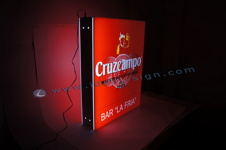Customized Acrylic Light Box used for Outdoor Promotion