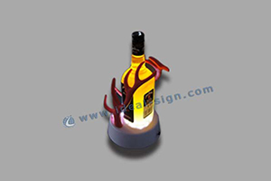 resin material wine bottle displays