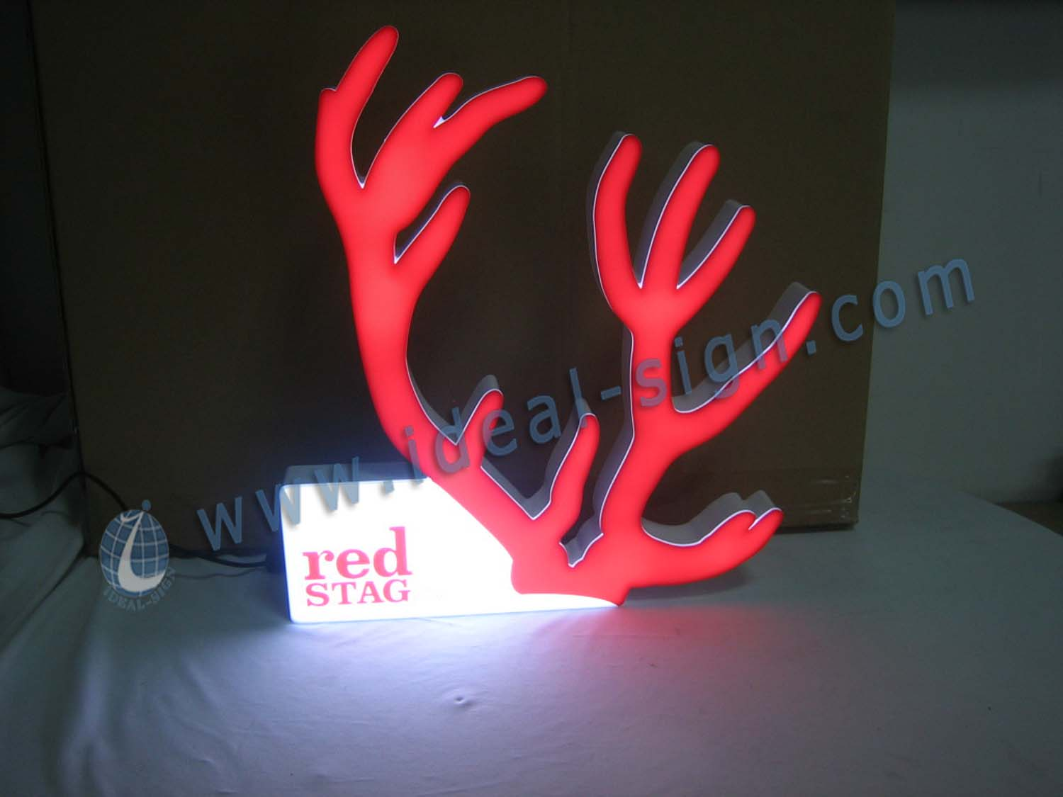 Antler Shape Indoor LED Signs / Acrylic LED Light Box