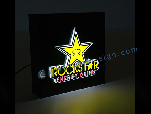 Square shape Indoor LED light Signs For Brand Advertising
