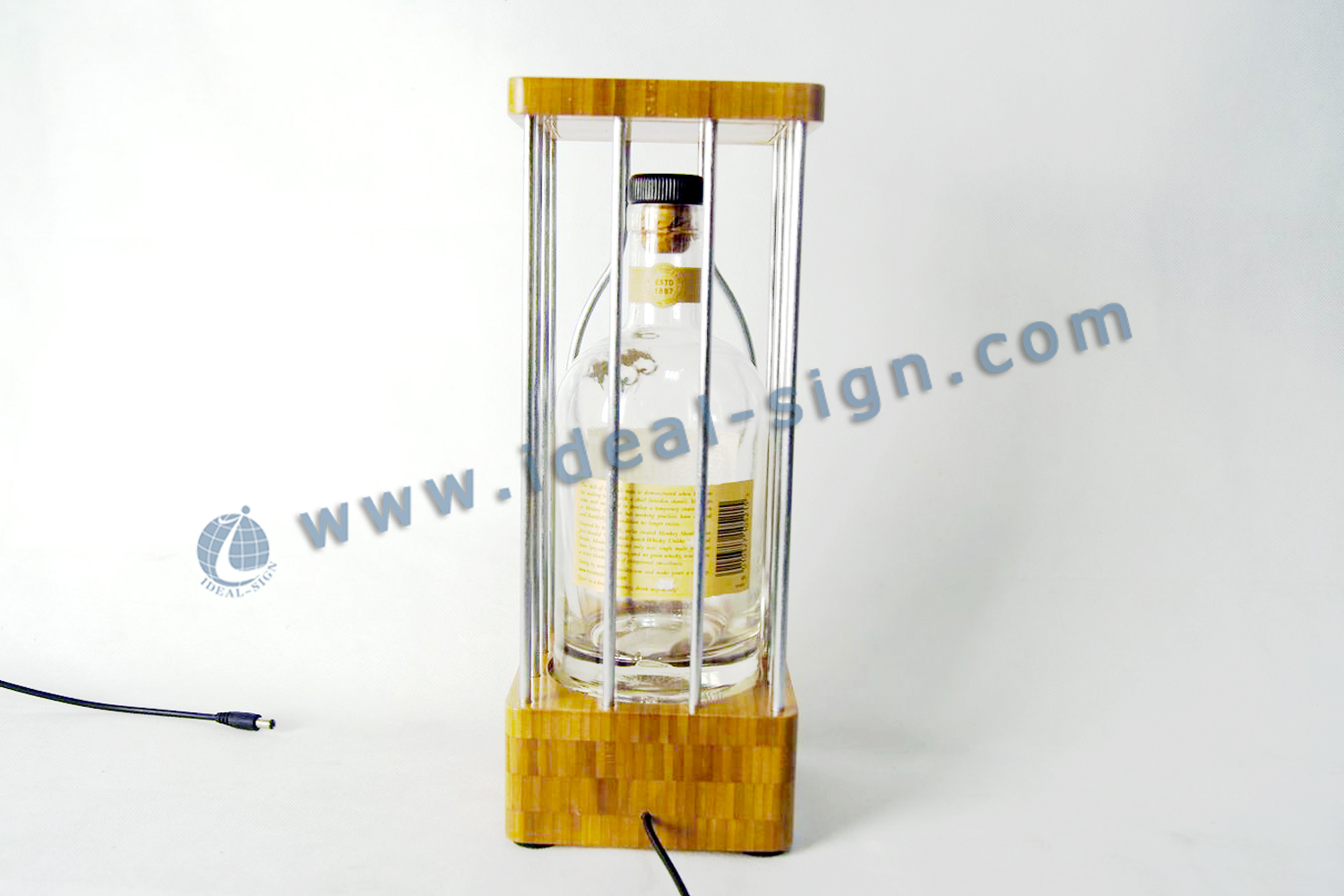 Monkey Shoulder's Bamboo LED Liquor Bottle Display