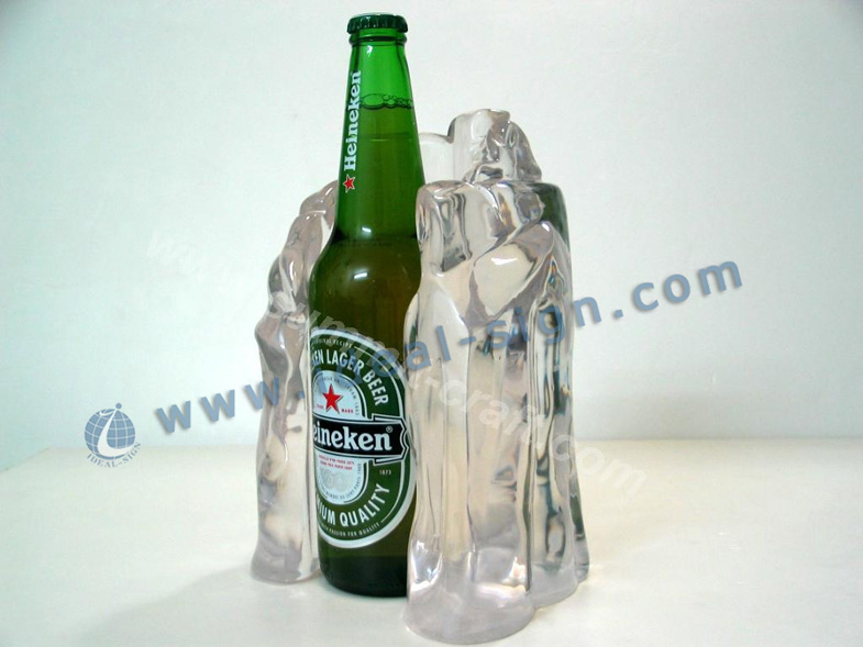 Ameria style transparent iceberg shape led bottle shelf
