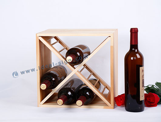 Square Shape Wooden Wine Rack Carton