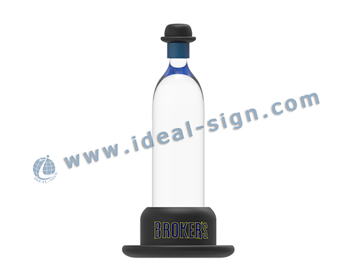 Hat Shape Broker's LED Liquor Bottle Glorifier