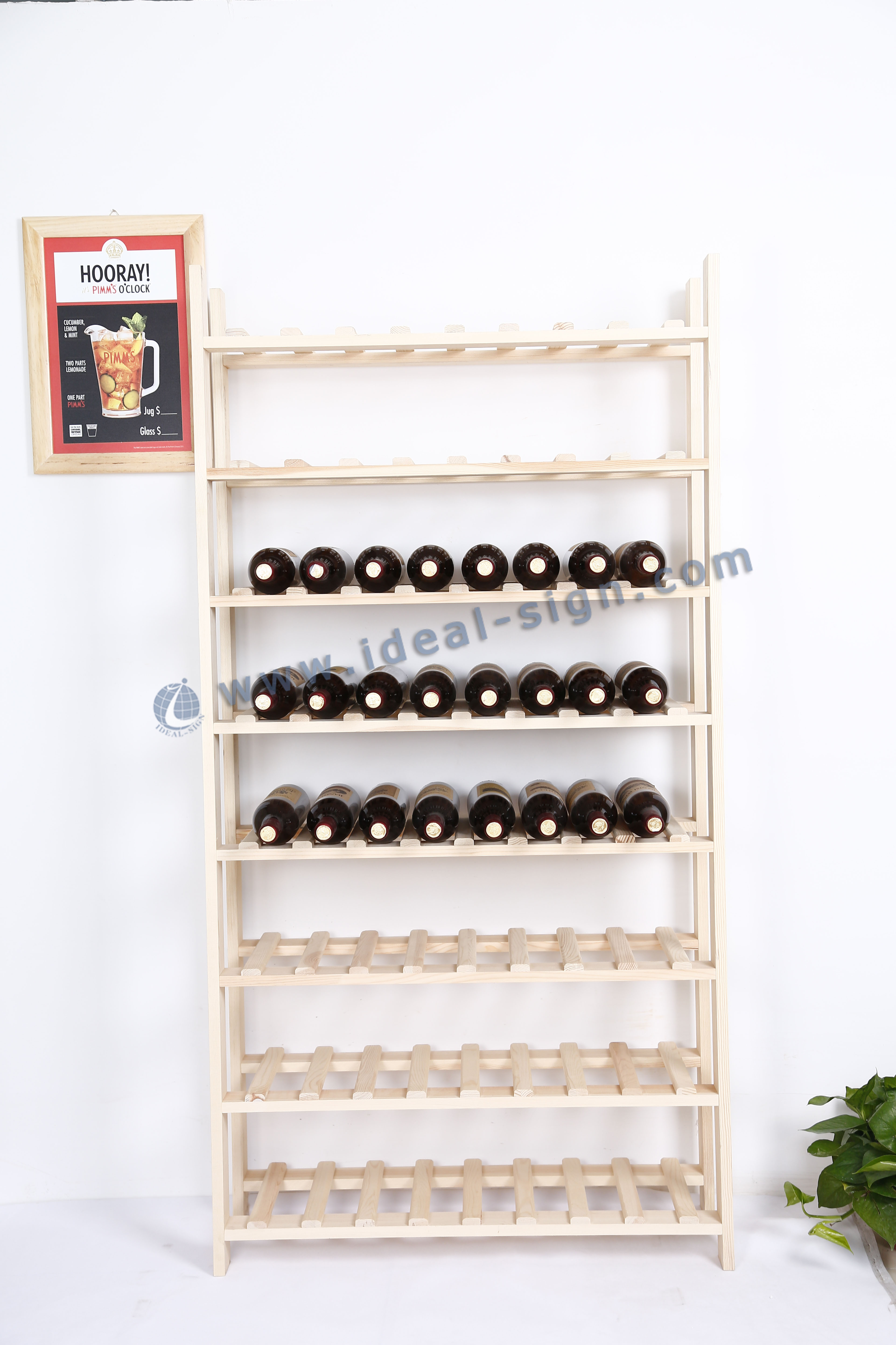 Wooden Wine Shelf MDF for Big Storage