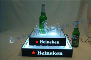 2-tier led bottle display